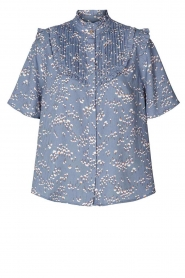 Lolly's Laundry |  Print blouse Maria | blue  | Picture 1