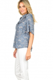 Lolly's Laundry |  Print blouse Maria | blue  | Picture 5