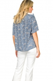 Lolly's Laundry |  Print blouse Maria | blue  | Picture 6