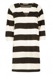 DAY Birger et Mikkelsen | V-hals jurk Clear | zwart/wit  | Afbeelding 1