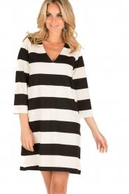 DAY Birger et Mikkelsen | V-hals jurk Clear | zwart/wit  | Afbeelding 2