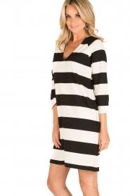 DAY Birger et Mikkelsen | V-hals jurk Clear | zwart/wit  | Afbeelding 4