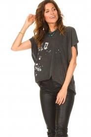 IRO |  Oversized T-shirt Gruncy | black  | Picture 5