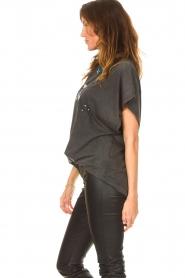 IRO |  Oversized T-shirt Gruncy | black  | Picture 6