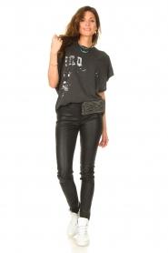 IRO |  Oversized T-shirt Gruncy | black  | Picture 3
