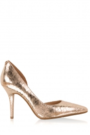 Leather metallic pumps Nathalie | gold