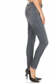 7 For All Mankind | Super skinny jeans met borduursels Amy | lichtgrijs  | Afbeelding 4
