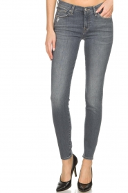 7 For All Mankind | Super skinny jeans met borduursels Amy | lichtgrijs  | Afbeelding 3