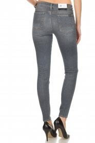7 For All Mankind | Super skinny jeans met borduursels Amy | lichtgrijs  | Afbeelding 5