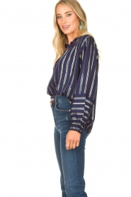 Lolly's Laundry |  Striped blouse Sadie | blue  | Picture 5