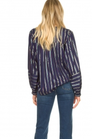 Lolly's Laundry |  Striped blouse Sadie | blue  | Picture 6