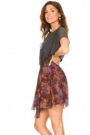 IRO |  Skirt with print Guetta | burgundy  | Picture 6