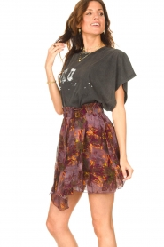 IRO |  Skirt with print Guetta | burgundy  | Picture 5