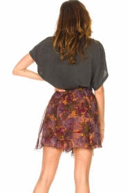 IRO |  Skirt with print Guetta | burgundy  | Picture 7