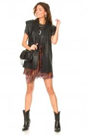 IRO |  Skirt with print Guetta | burgundy  | Picture 3