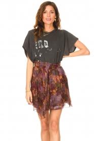 IRO |  Skirt with print Guetta | burgundy  | Picture 4