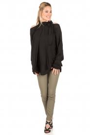 IRO | Cut-out blouse Frejan | zwart  | Afbeelding 3