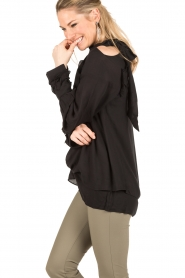 IRO | Cut-out blouse Frejan | zwart  | Afbeelding 4