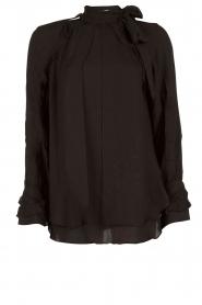 IRO | Cut-out blouse Frejan | zwart  | Afbeelding 1