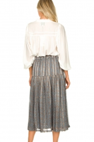 Lolly's Laundry |  Blouse with pleated details Cara | white  | Picture 6