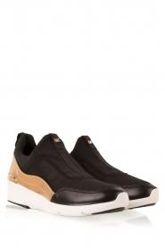 MICHAEL Michael Kors | Slip-on sneakers Ace | zwart  | Afbeelding 3
