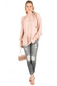 IRO | Cut-out blouse Frejan | oudroze  | Afbeelding 3