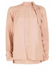 IRO | Cut-out blouse Frejan | oudroze  | Afbeelding 1