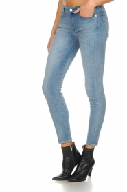7 For All Mankind |  Cropped skinny jeans Bair | blue  | Picture 5