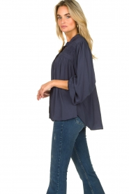 Lolly's Laundry |  Blouse with pleated details Cara | blue  | Picture 5