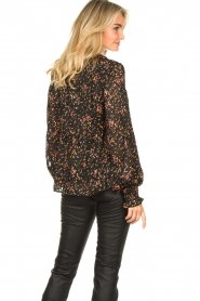 Lolly's Laundry :  Floral printed blouse Maya | black - img6