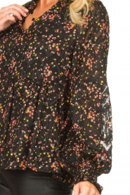 Lolly's Laundry :  Floral printed blouse Maya | black - img7