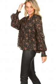 Lolly's Laundry :  Floral printed blouse Maya | black - img5
