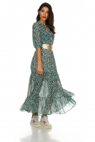 Lolly's Laundry |  Printed maxi dress Nee | green  | Picture 3