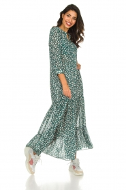 Lolly's Laundry |  Printed maxi dress Nee | green  | Picture 4