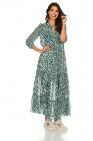 Lolly's Laundry |  Printed maxi dress Nee | green  | Picture 2