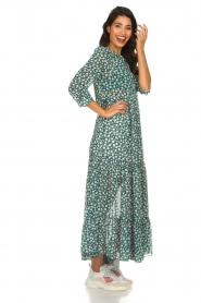 Lolly's Laundry |  Printed maxi dress Nee | green  | Picture 5