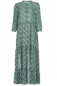 Lolly's Laundry |  Printed maxi dress Nee | green  | Picture 1