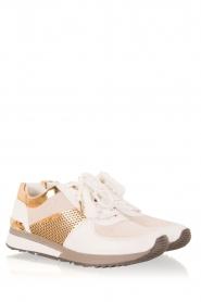 MICHAEL Michael Kors | Leren sneakers Allie | wit  | Afbeelding 3