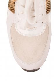 MICHAEL Michael Kors | Leren sneakers Allie | wit  | Afbeelding 5