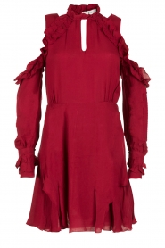 Cut-out jurk Hanie | rood