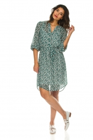 Lolly's Laundry |  Printed dress Jade | green  | Picture 2