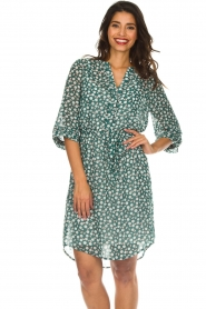 Lolly's Laundry |  Printed dress Jade | green  | Picture 4