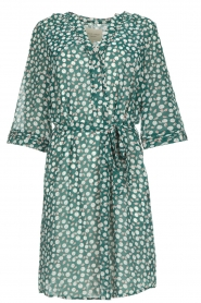 Lolly's Laundry |  Printed dress Jade | green  | Picture 1