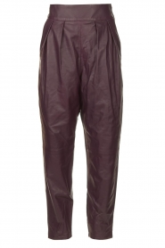 IRO    Leather baggy pants Bisho   purple    Picture 1