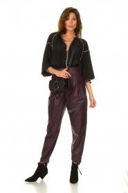 IRO    Leather baggy pants Bisho   purple    Picture 3