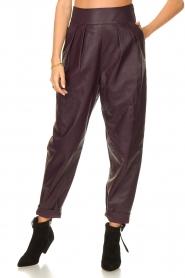 IRO    Leather baggy pants Bisho   purple    Picture 4