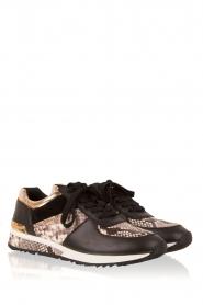 MICHAEL Michael Kors | Leren sneakers Allie Wrap | zwart  | Afbeelding 3