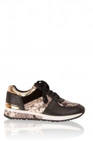 MICHAEL Michael Kors | Leren sneakers Allie Wrap | zwart  | Afbeelding 1