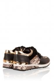 MICHAEL Michael Kors | Leren sneakers Allie Wrap | zwart  | Afbeelding 4