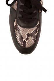 MICHAEL Michael Kors | Leren sneakers Allie Wrap | zwart  | Afbeelding 5
